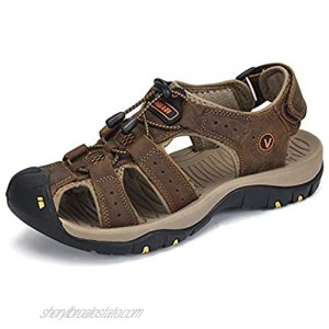 Men's Sport Sandals Hiking Closed Toe Outdoor Beach Summer Fisherman Water Shoes